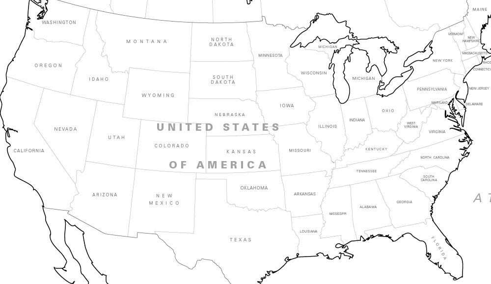 north america coloring map