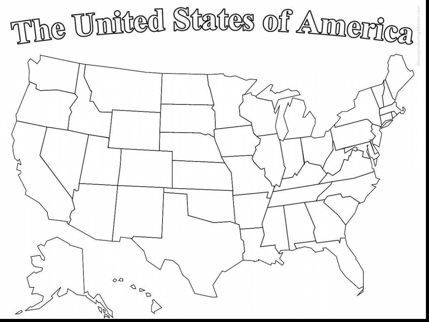 1392x1045 Wonderful United States Of America Map Coloring Page With Us Map