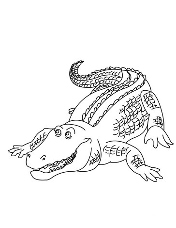 364x470 Alligator Boxer Coloring Page