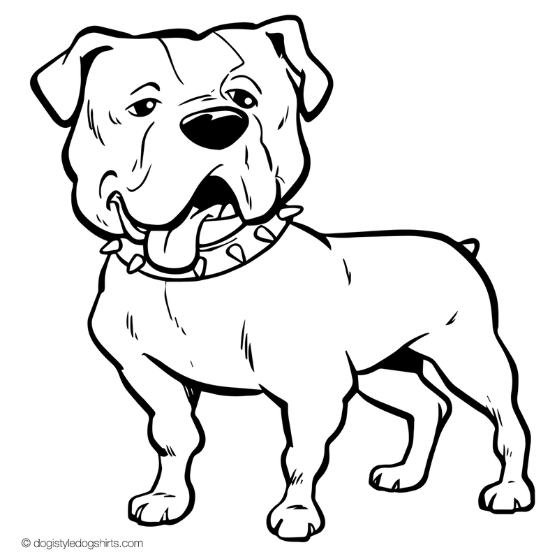 American Bulldog Drawing at GetDrawings.com | Free for personal use ...