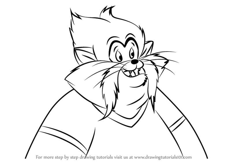 800x566 Learn How To Draw Tiger From An American Tail (An American Tail