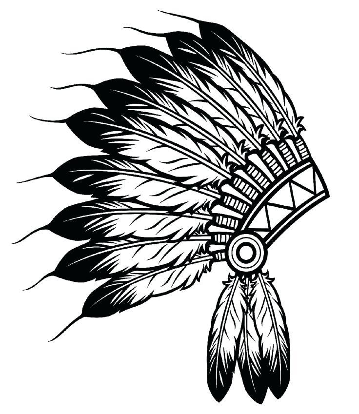 736x849 Native American Drawing Pin Headdress 4 Media