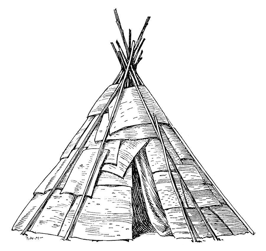 900x848 Native American Teepee Drawings Fine Art America