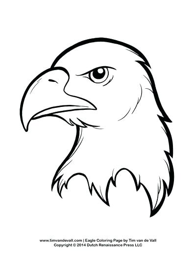 400x518 Eagle Coloring Sheet Bald Eagle With Smooth Feather Coloring Page