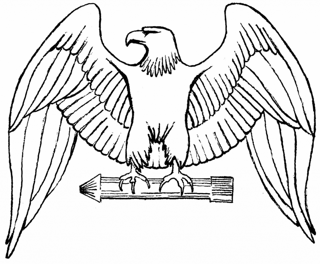 1024x845 Easy To Draw Eagle American Eagle Draw American Eagle Easy Drawing