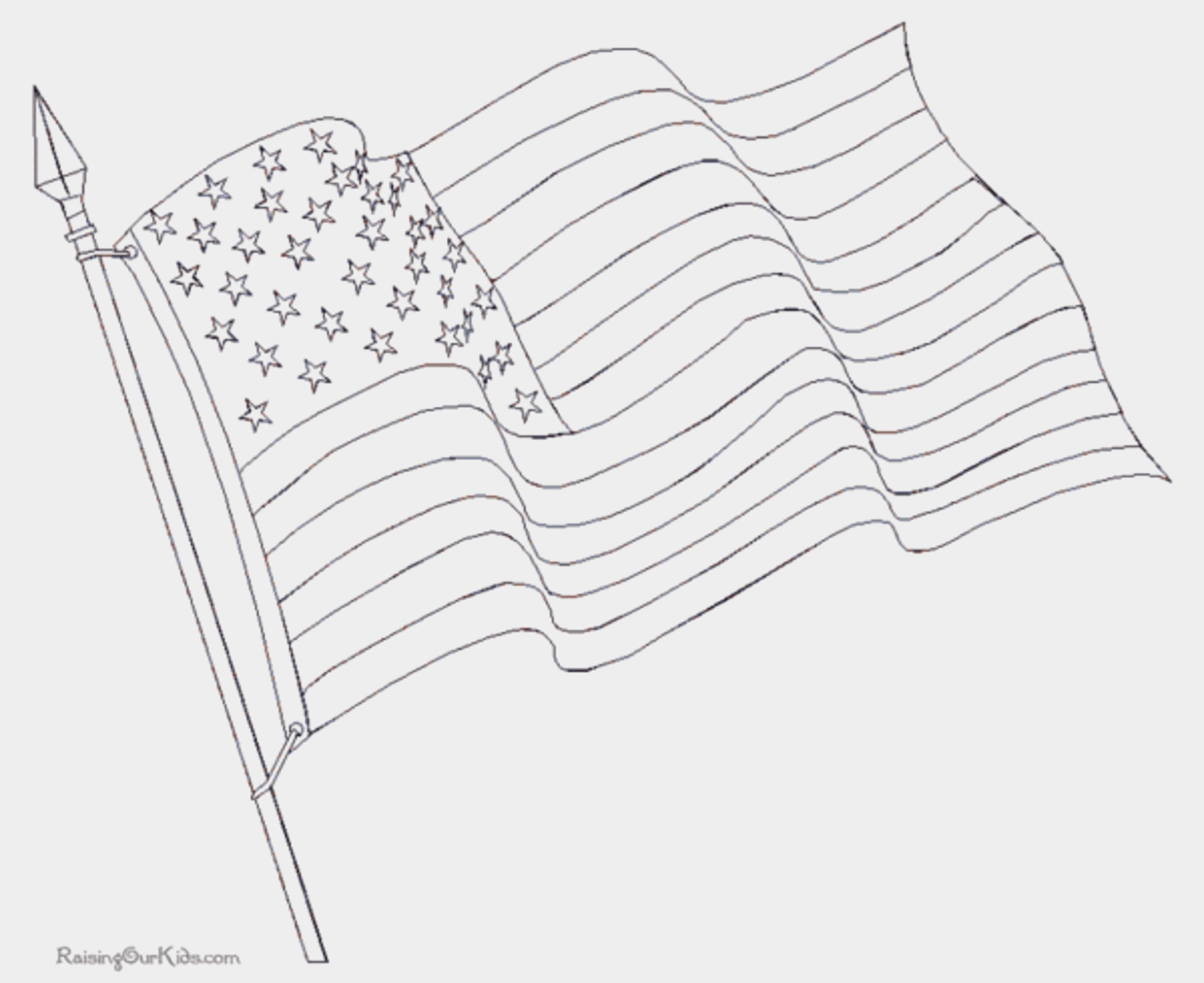 2204x1800 Waving American Flag Coloring Page Unique Waving American Flag