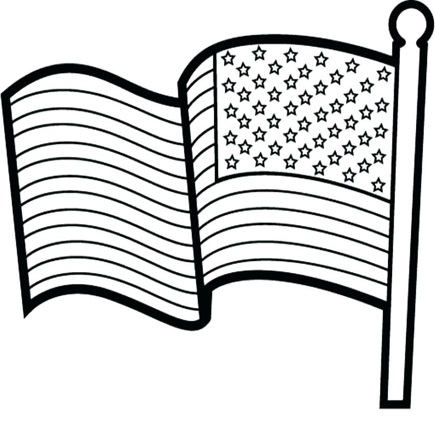 852x835 American Flag Pictures To Color Pin Drawn Flag Coloring Page 1 Usa