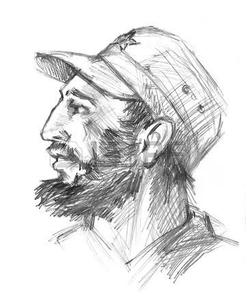 360x450 November 26, 2016. Portrait Of Fidel Castro. Cuban Politician