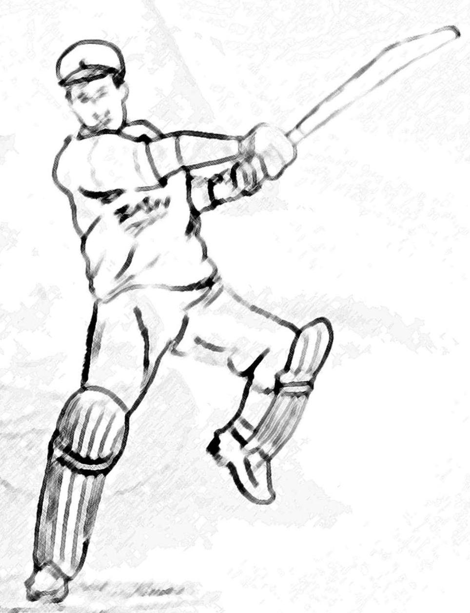 964x1256 Pencil Sketches Amp Painting Cricket