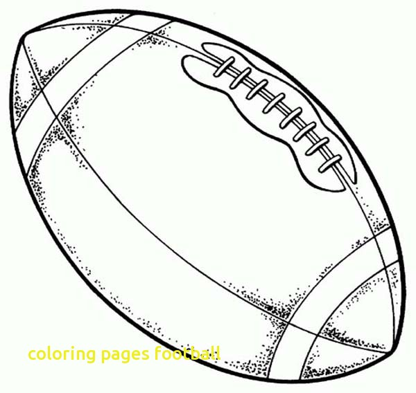 600x568 Coloring Pages Football With American Football Ball Coloring Page