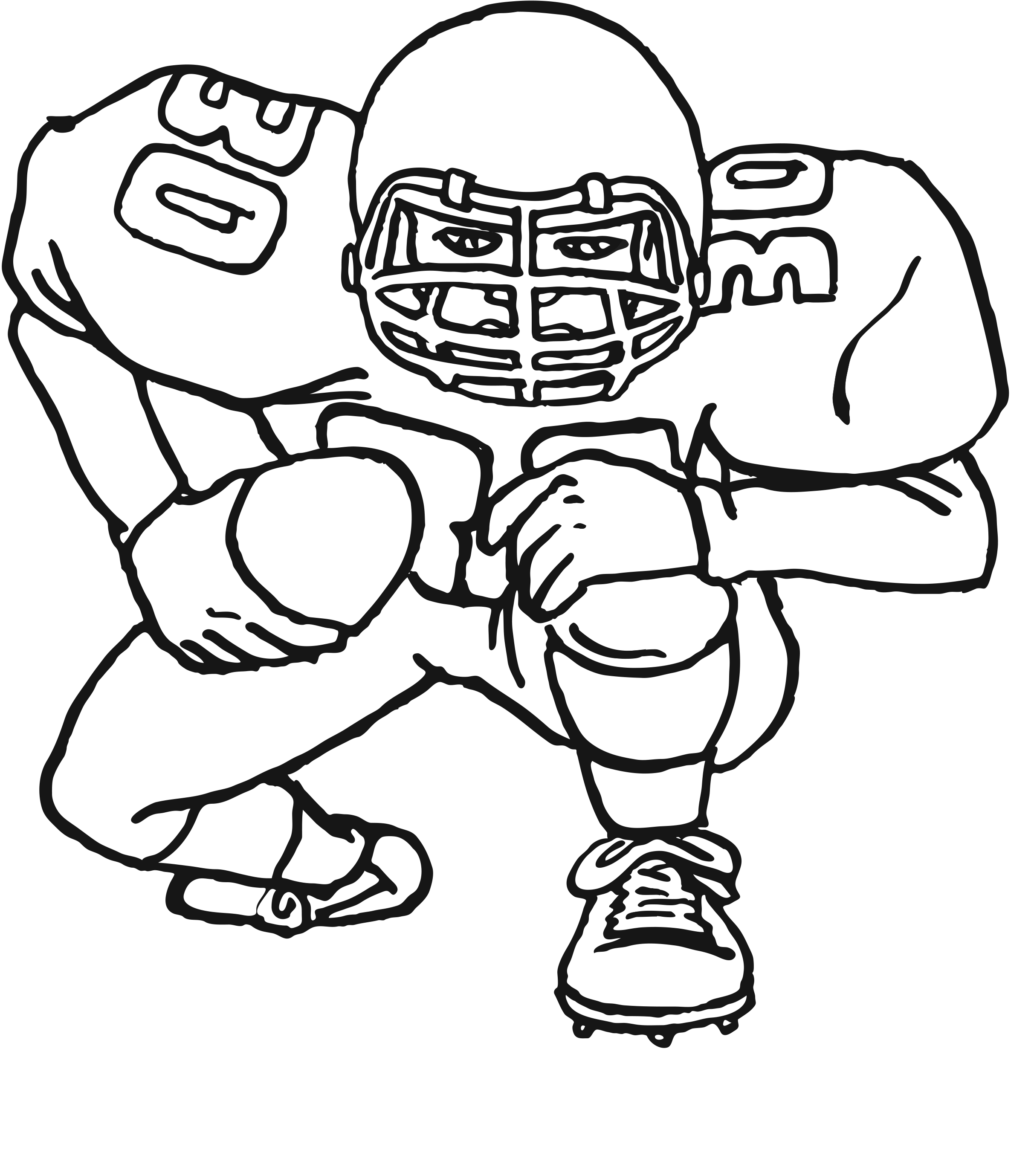 2425x2758 Football Coloring Pages For Kids
