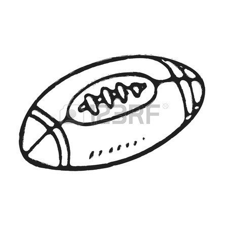 450x450 Hand Draw Rugby Ball Or American Football Isolated Illustration