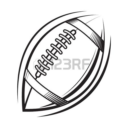 450x450 American Football Ball Icon Emblem Illustration. Vector Tattoo