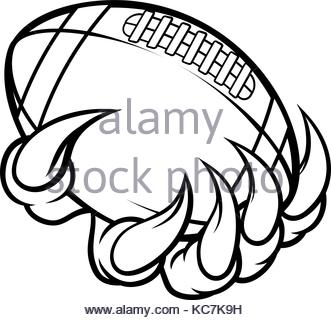 331x320 Hand Holding American Football Ball Stock Vector Art