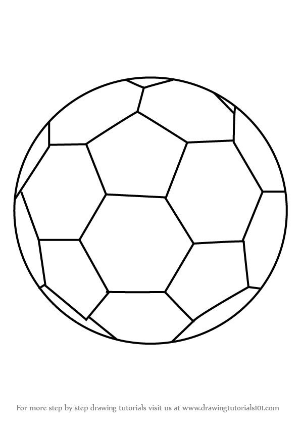 596x843 Learn How To Draw Soccer Ball (Everyday Objects) Step By Step