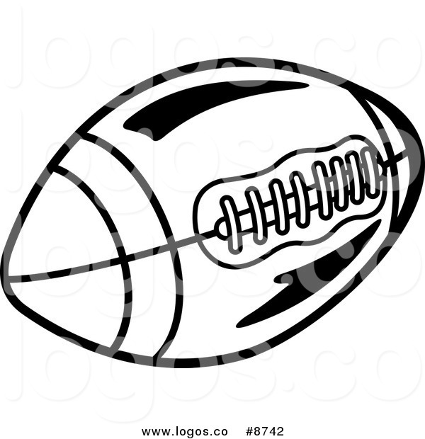 600x620 Royalty Free Clip Art Vector Logo Of A Black And White Pigskin