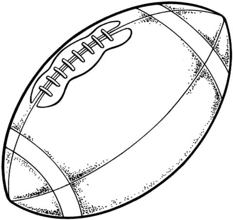 American Football Ball Drawing at GetDrawings.com | Free for ...