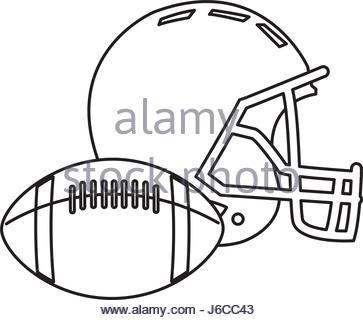 363x320 American Football Ball Sport Pictogram Stock Vector Art