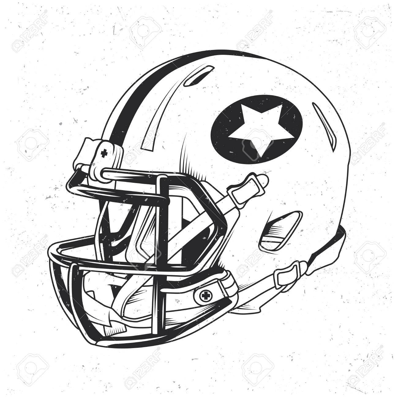 1300x1300 American Football T Shirt Label Design With Illustration