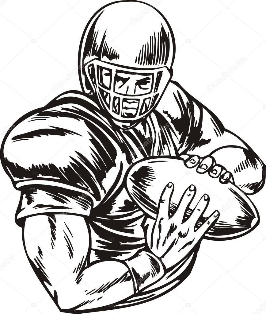 868x1023 American Football. Stock Vector Digital Clipart