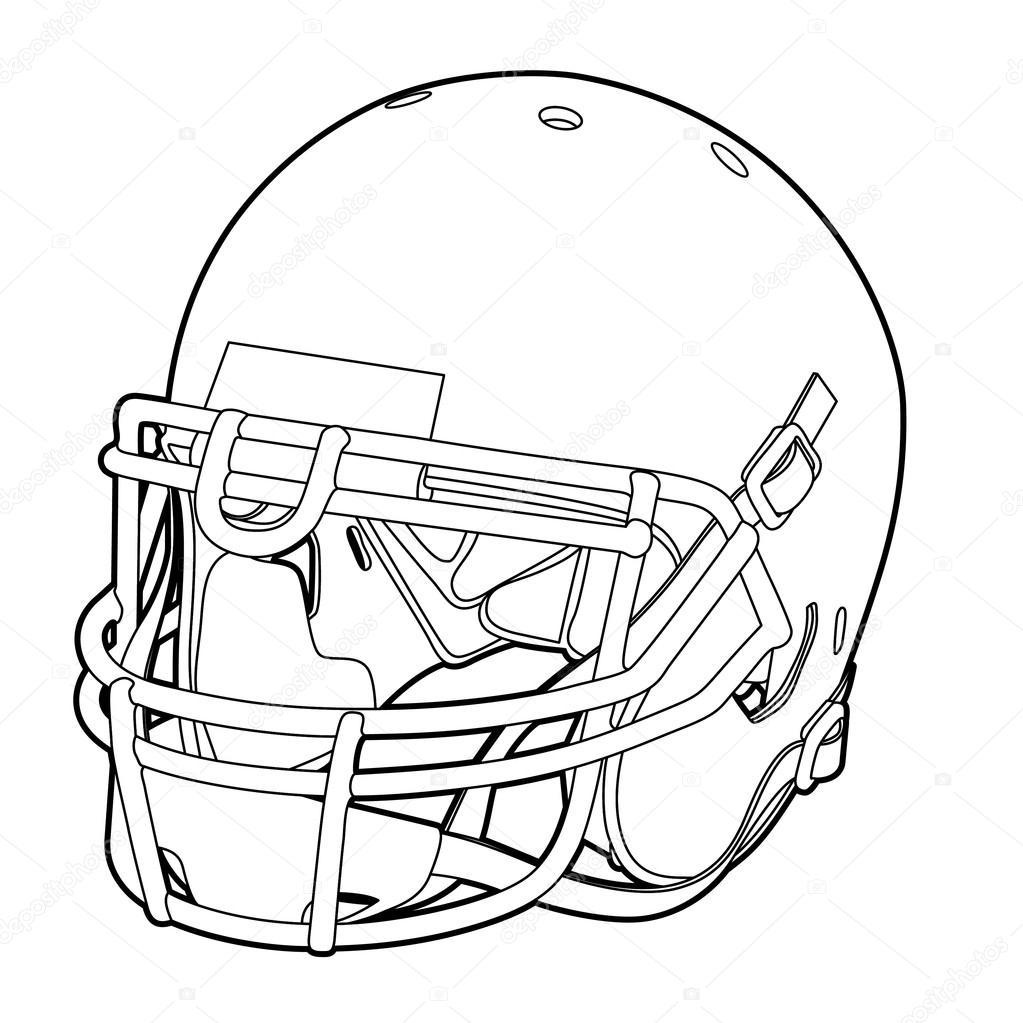 1023x1023 American Football Helmet Stock Vector Chisnikov