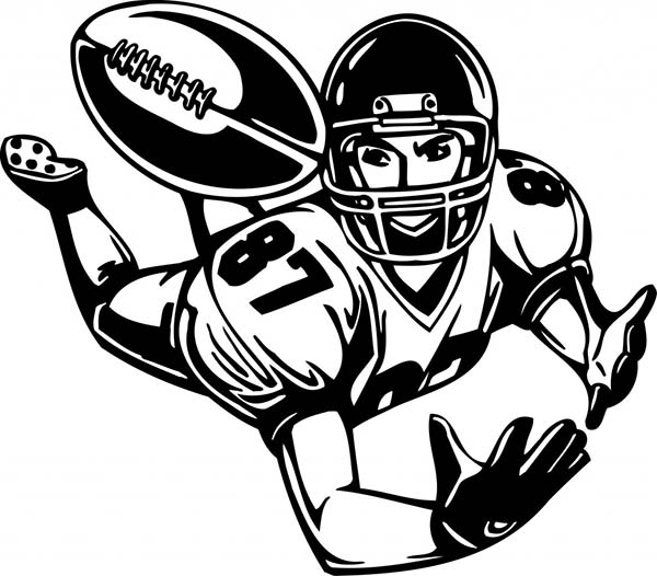 600x526 An American Football Player