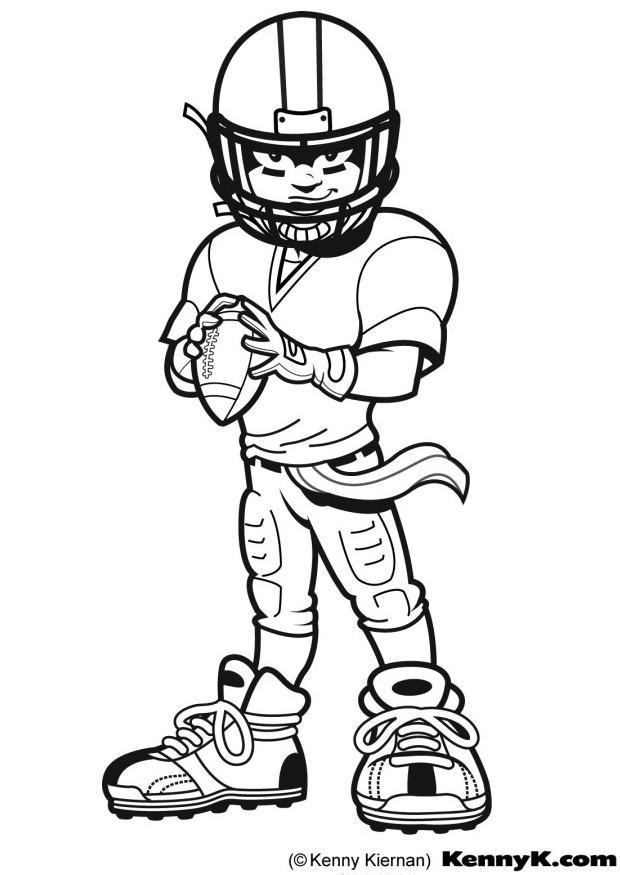 620x875 Coloring Page American Football