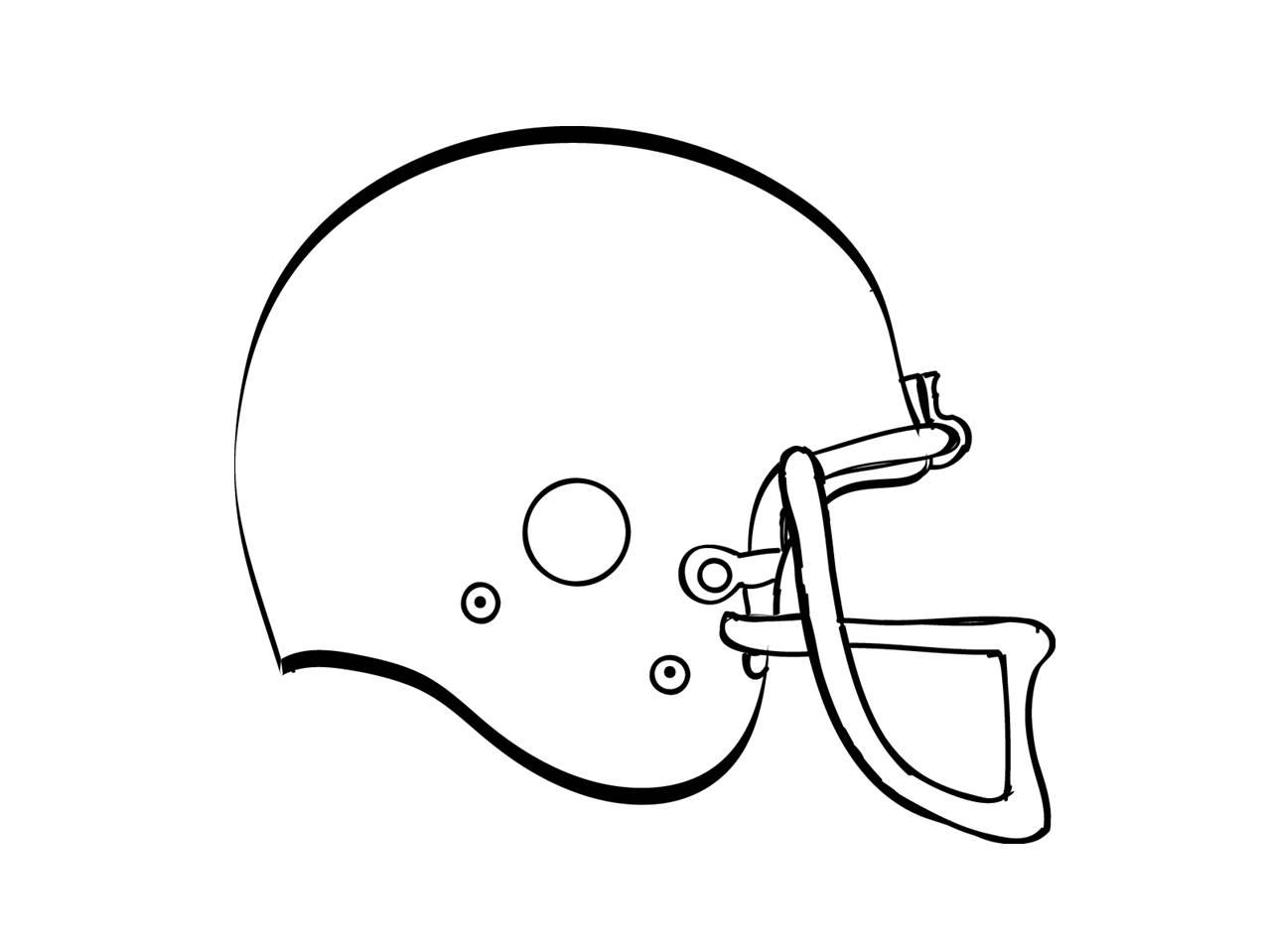 1278x959 Drawn Football Blank