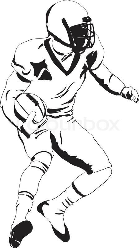 448x800 Player In American Football Stock Vector Colourbox