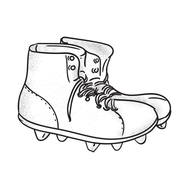630x630 Vintage American Football Boots Drawing