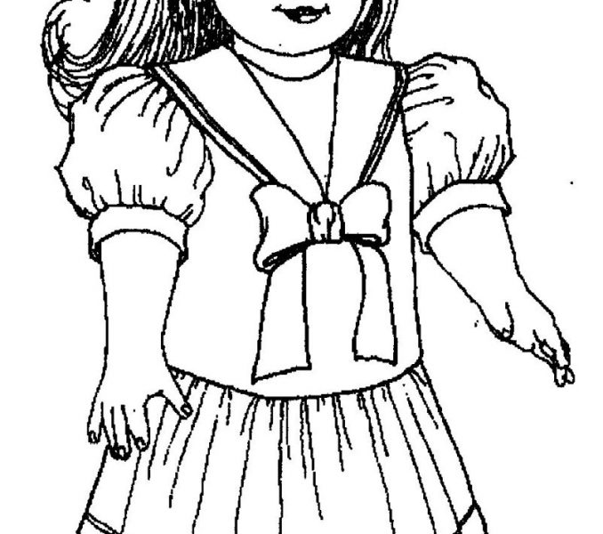 American girl doll drawing at free for for American girl doll coloring page