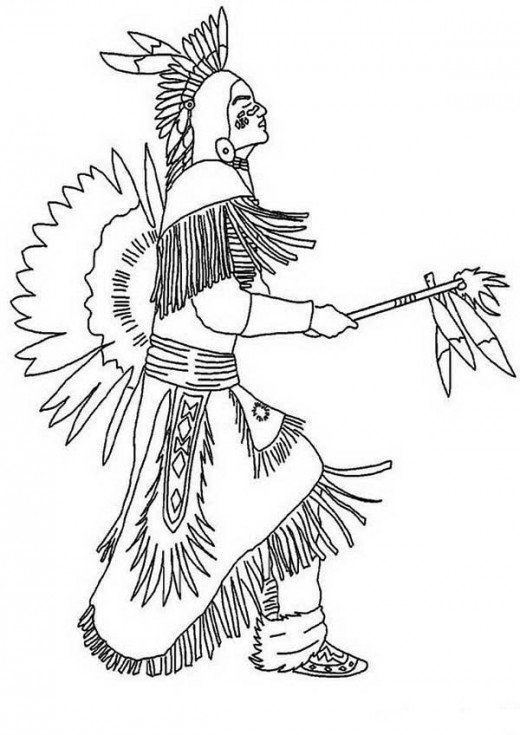 American Indian Drawing
