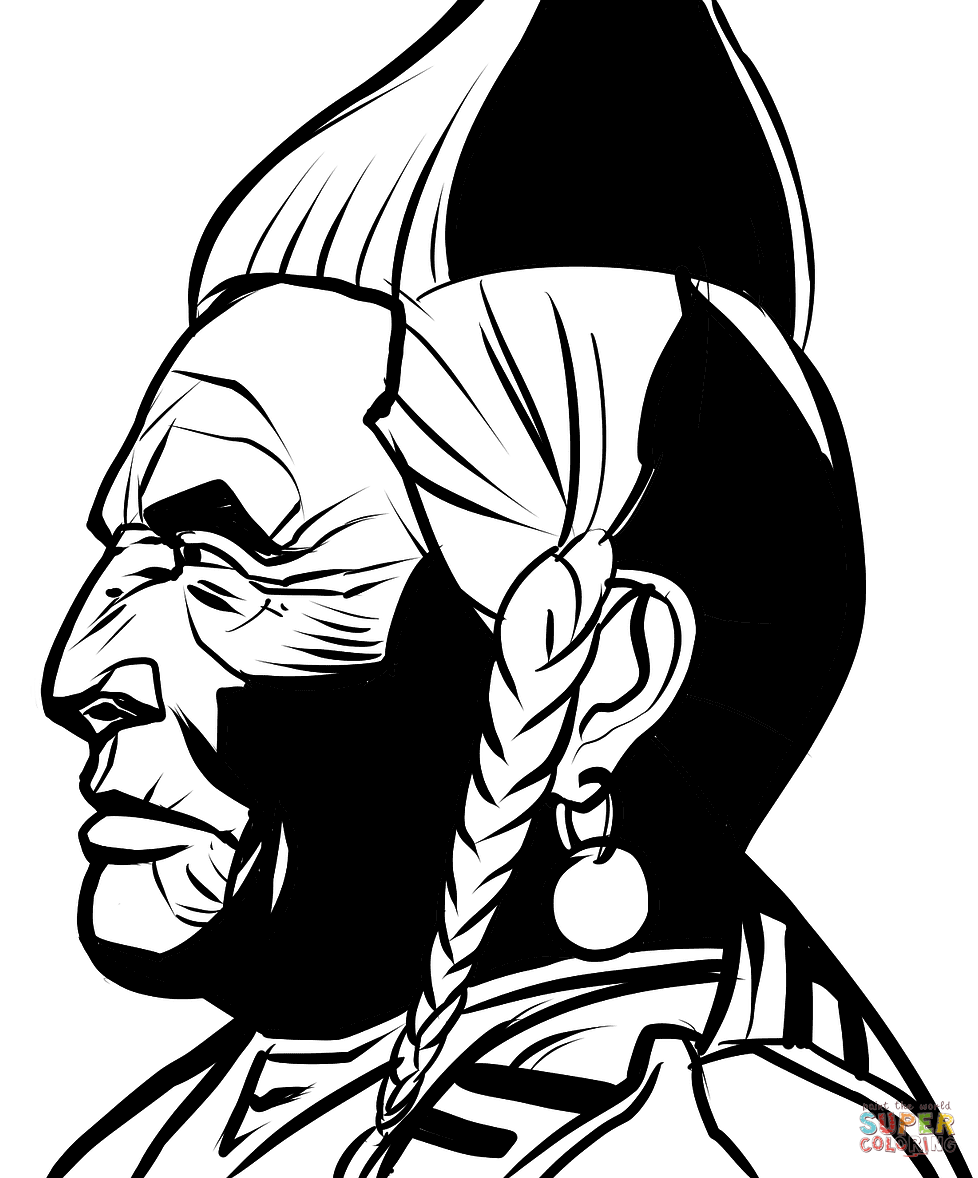 978x1178 Native American Indian Chief Coloring Page Free Printable