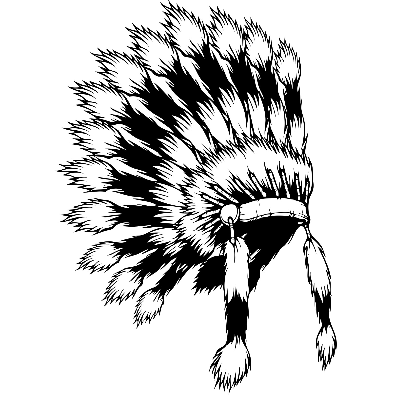 1600x1600 Native American Indian Headdress Wall Sticker