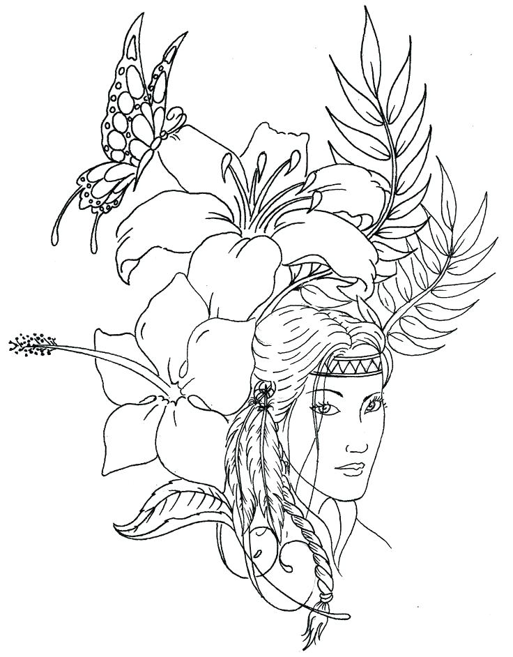 736x942 Free Native American Indian Coloring Pages