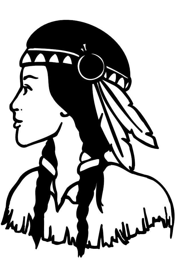 American Indian Girl Drawing at GetDrawings | Free download