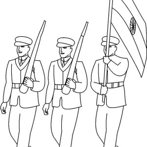 300x300 Soldier In The Battle Field In Armed Forces Day Coloring Page