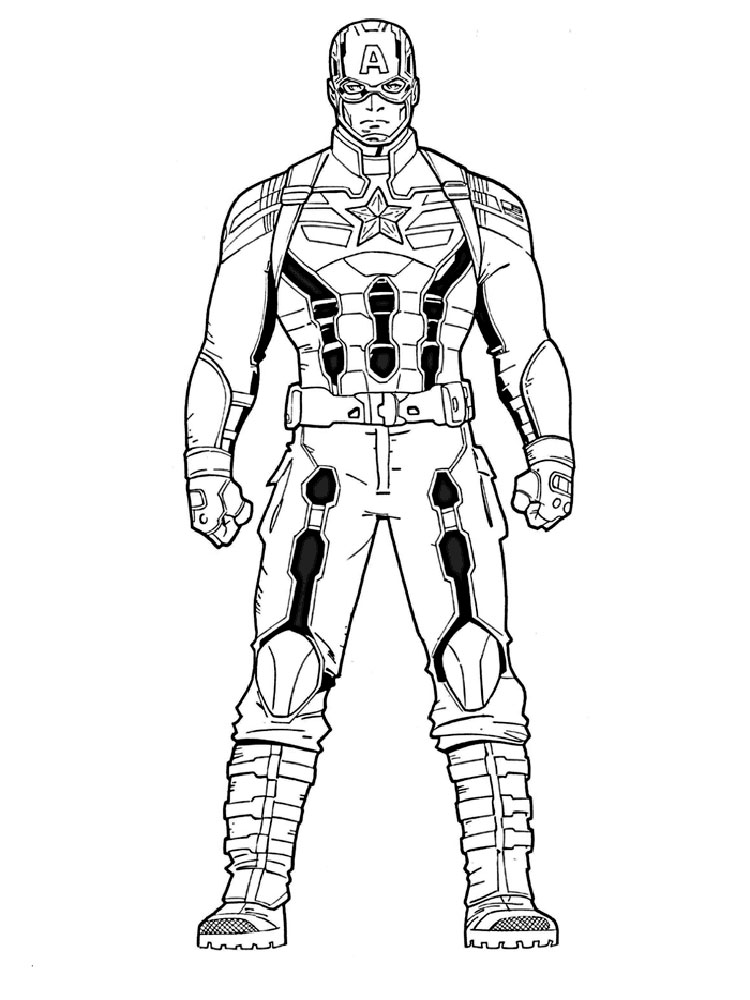 750x1000 The Winter Soldier Coloring Pages. Free Printable The Winter