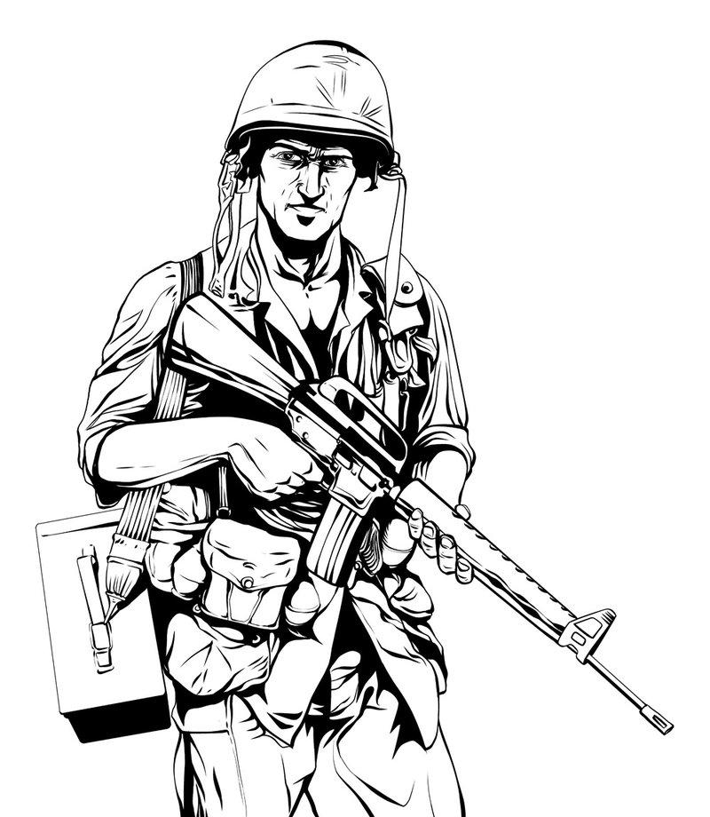 800x920 Vietnam War Soldier Inks By Jeremiahlambertart