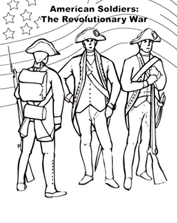 600x756 American Flag On Revolutionary War For Independence Day Coloring
