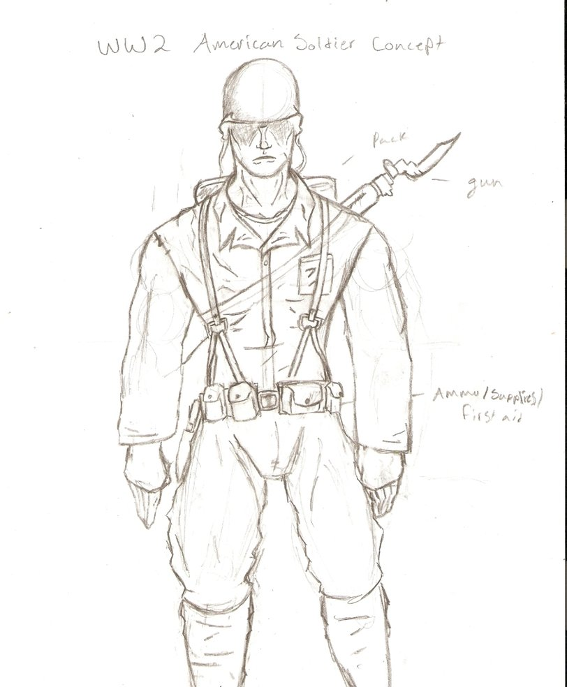 812x984 Ww2 American Soldier Concept By Iwannabiscut147
