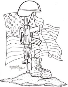 236x301 American Soldier Drawing With Flag