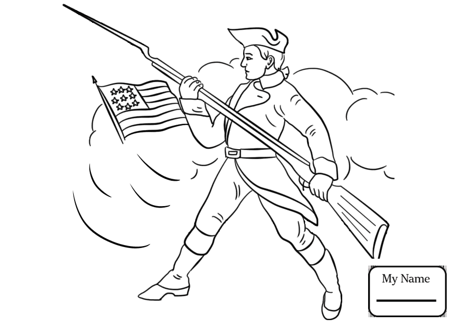 932x665 Coloring Pages American Revolutionary War Continental Army Soldier