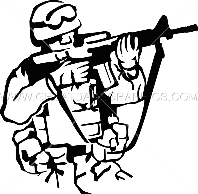 825x805 American Soldier Production Ready Artwork For T Shirt Printing