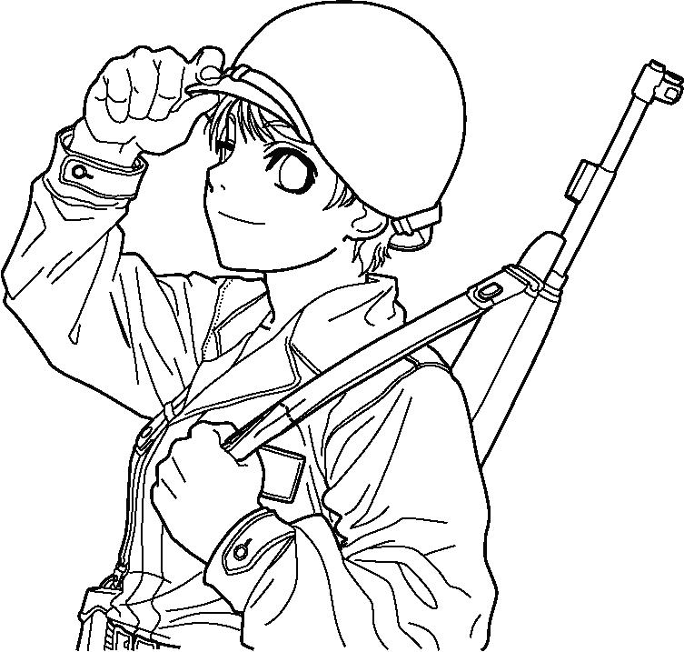 753x717 American Soldier Lineart By Fvsj