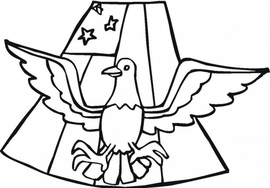 860x598 American Flag Coloring Pages Many Interesting Cliparts