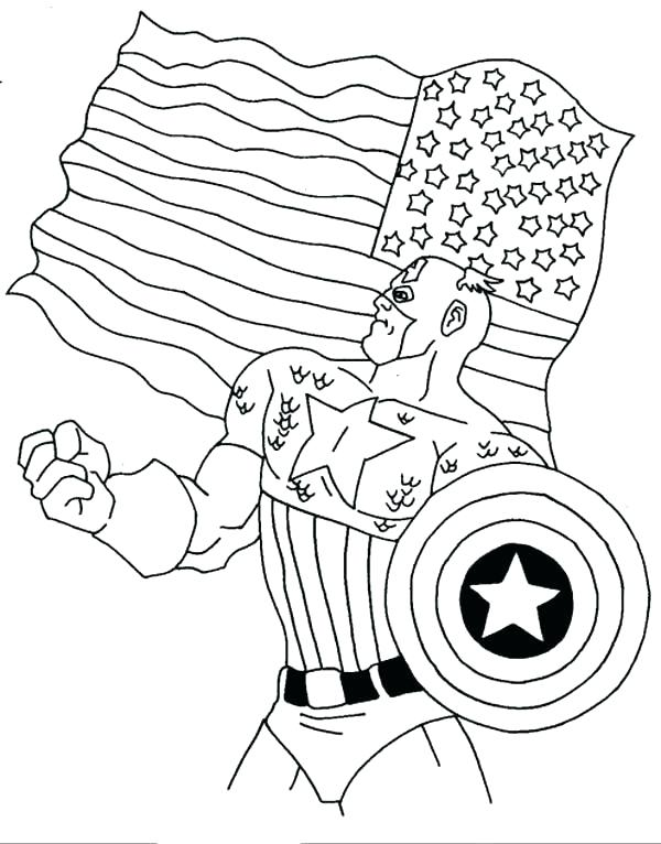 600x766 Coloring Pages Of The American Flag Flag Coloring Pages Page Full