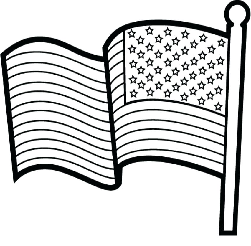 852x835 American Flag Coloring Page Pages