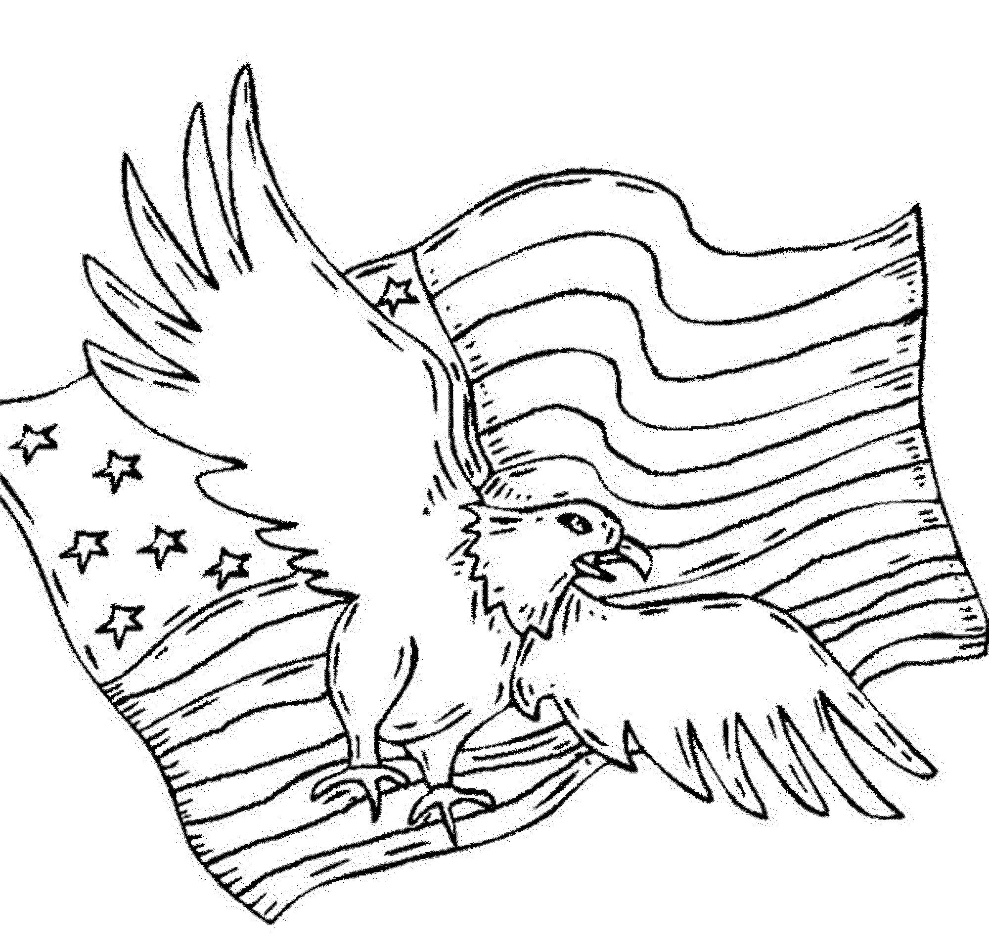 2000x1923 American Flag Coloring Page For The Love Of The Country