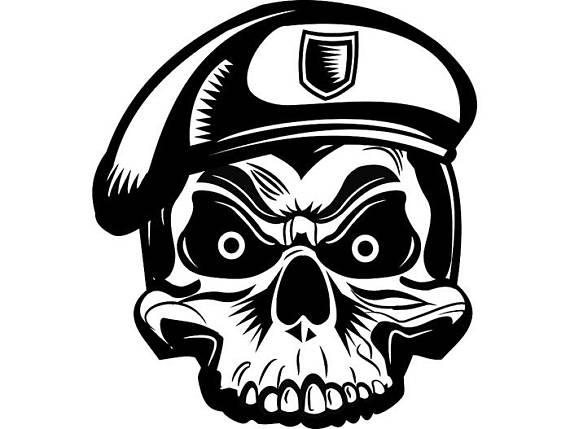 570x429 Military Skull 6 Skeleton Machine Gun Ammunition Ammo Weapon